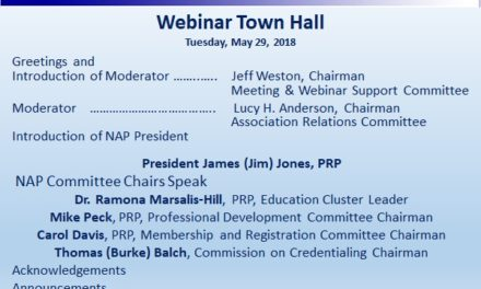 Virtual Town Hall Highlights Educational Initiatives, Credentialing Changes